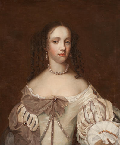 Attributed to John Michael Wright Portrait of a lady, half length