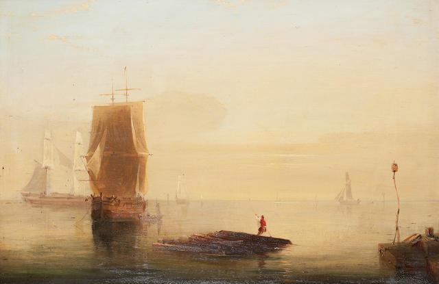 Circle of John Wilson Carmichael Shipping off coast