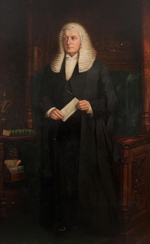 * Dickinson Portrait of William Court Gully, Viscount Selby in robes of Speaker of House of Commons