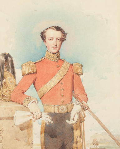 Kenneth Mcleay, R.S.A. An officer of the Dragoons 12½in by 10in