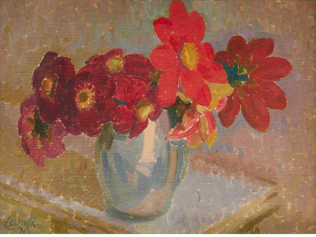 Henry Lamb (British, 1883-1960) Red Dahlias