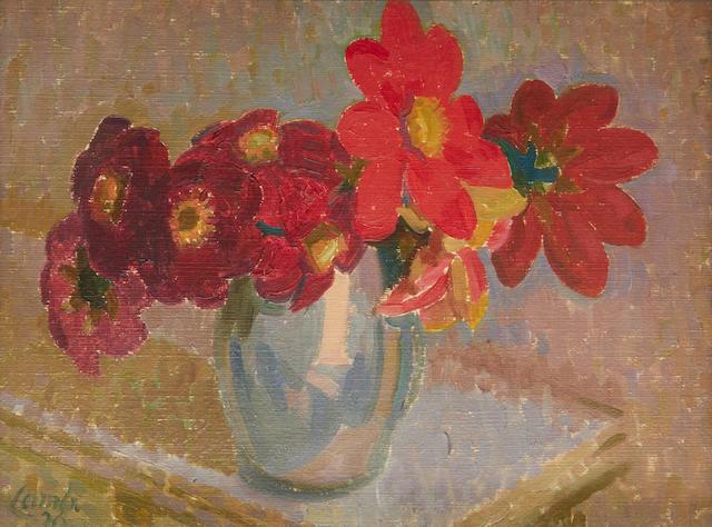 Henry Lamb (British, 1883-1960) Red Dahlias