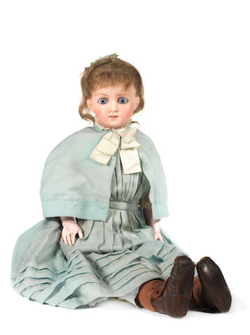 Cuno Otto dressel wax over composition shoulder head doll