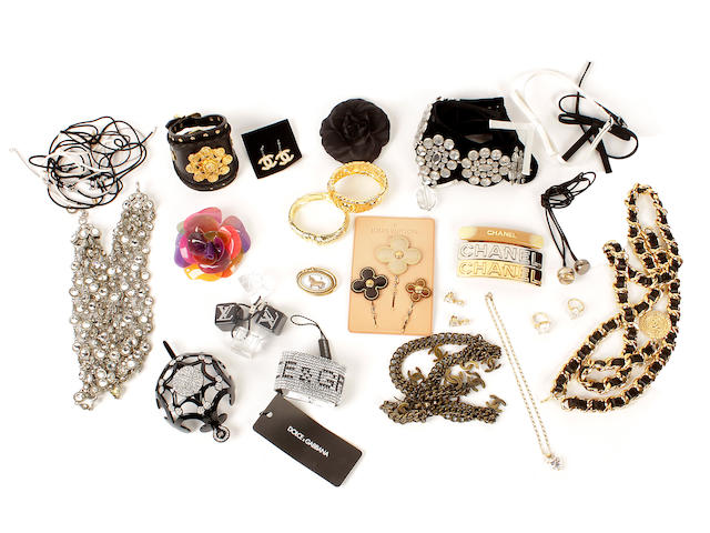 A quantity of designer costume jewellery and accessories