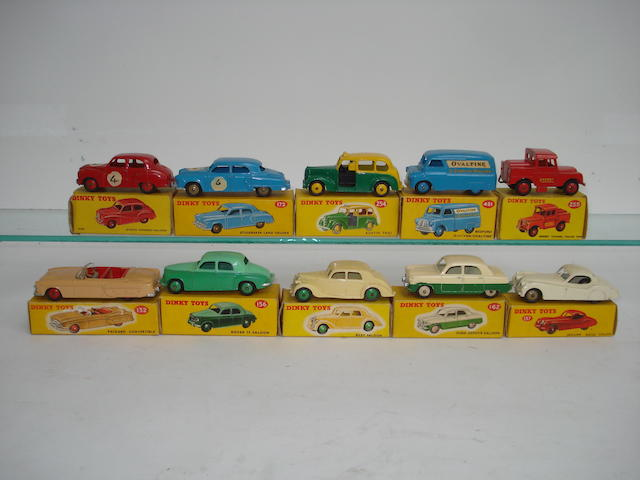 Dinky cars, Austin Taxi and Ovaltine Bedford van 10