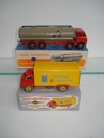 Dinky 923 Heinz Big Bedford van and 504 Foden tanker 2