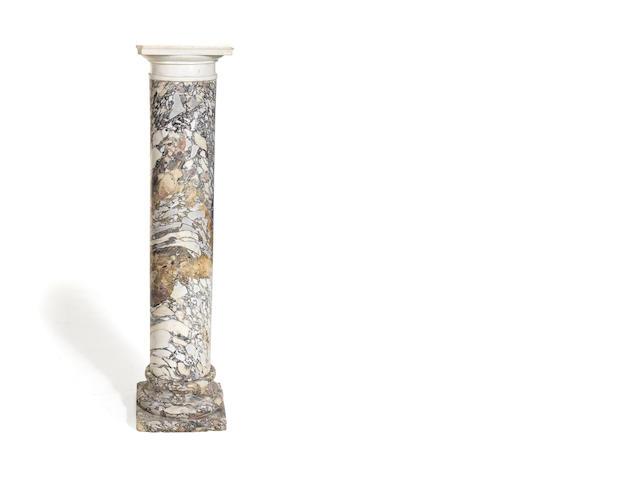 A 19th century breche violette marble column