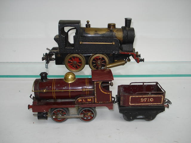 Hornby (French) c/w PLM No.1 0-4-0 locomotive and tender No.2710  2