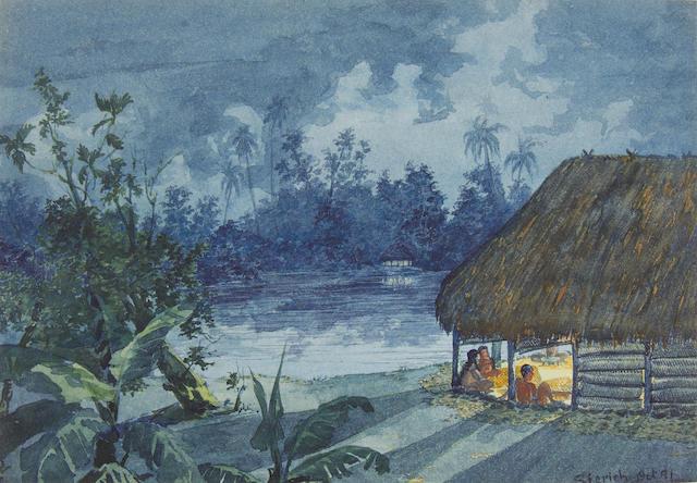 Dr F. Otto Sierich, late 19th Century A portfolio of seven Samoan views and studies portfolio size 20 x 26cm (7 7/8 x 10 1/4in).