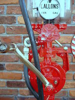 A fine Hammond two gallon visible hand operated semi-rotary petrol pump