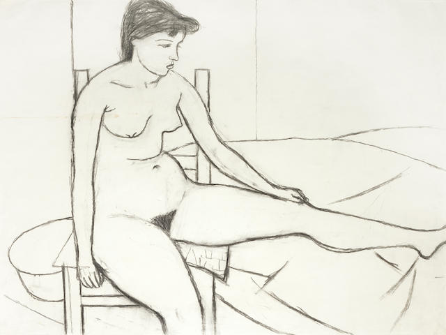 William Scott (1913-1989) Nude on Chair 75 x 105 cm. (29 1/2 x 41 1/3 in.)
