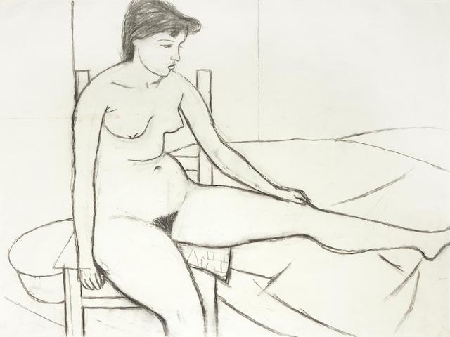 William Scott (1913-1989) Nude on Chair 75 x 105 cm. (29 1/2 x 41 1/3 in.)