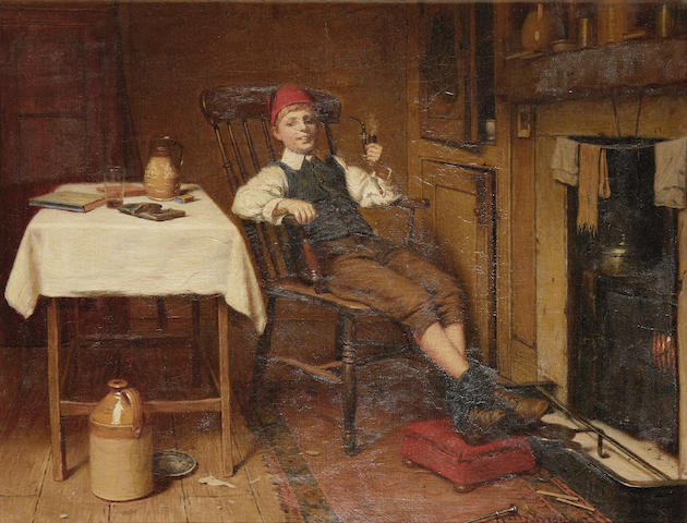 Harry Brooker (British, 1848-1940) I'm Father!