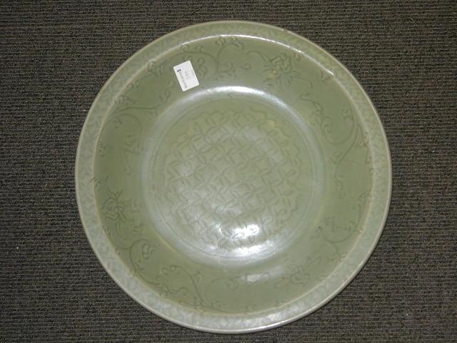 A large celadon dish