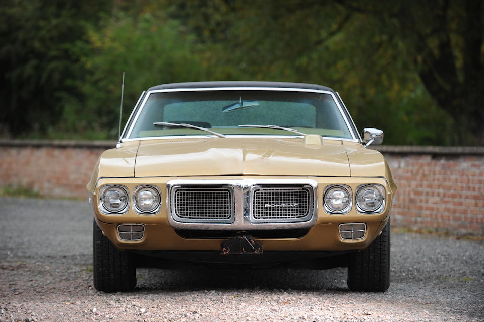 Left hand drive,1969 Pontiac Firebird Coupé  Chassis no. 223379N111130 Engine no. TBA