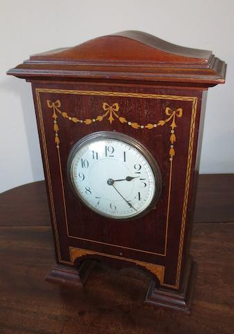 An Edwardian mahogany cased mantle timepiece