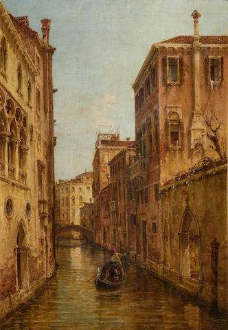 Continental School (19th Century) Venetian backwater