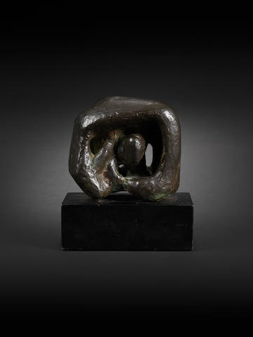 Henry Moore (British, 1898-1986) Maquette for Stone Memorial No.1 15.3 cm. (6 in.) long (including base)