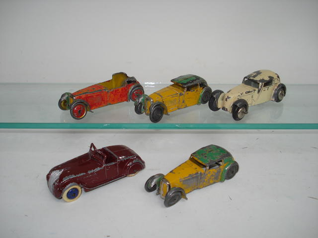 Dinky (pre-war) 22g Streamline Tourer and Hornby Series 22b Sports Coupé 5