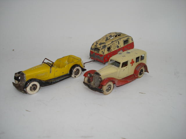 Dinky (pre-war) 24g Sports Tourer and 24a Ambulance 3