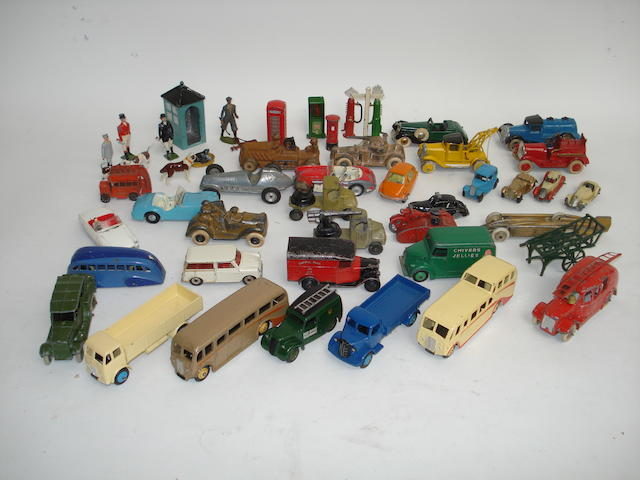 Dinky trucks, coaches and other vehicles lot