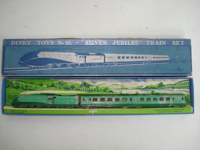 Dinky (pre-war) GS16 Silver Jubilee train set