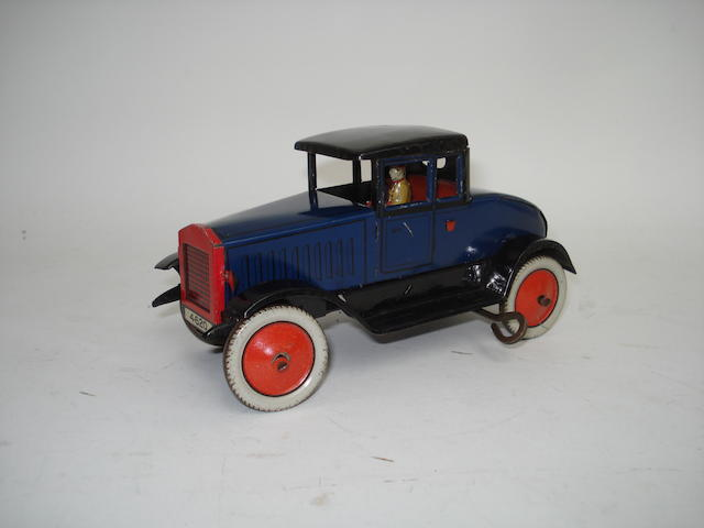 Tinplate c/w two-door Sedan, circa 1930