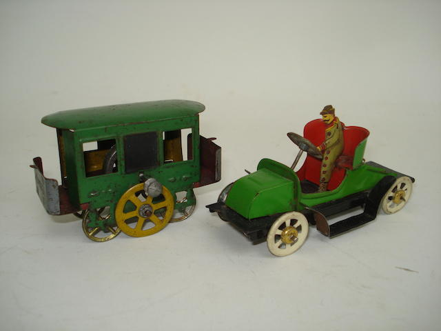 Rossignol Tramcar and open Tourer penny toys 2