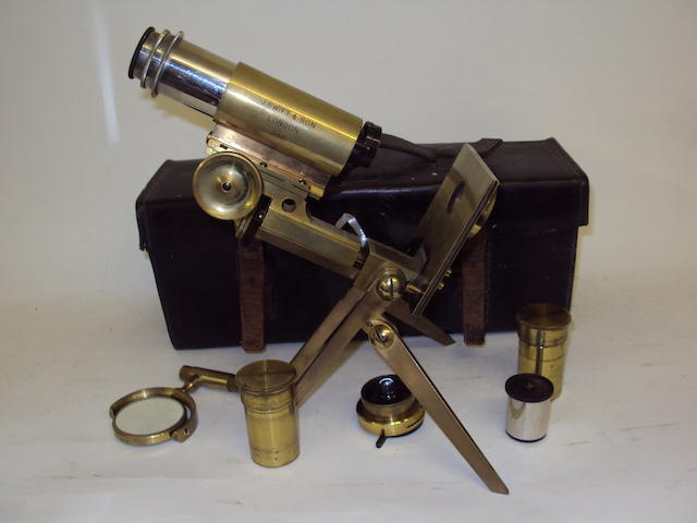 A J. Swift & Son, London brass compound microscope