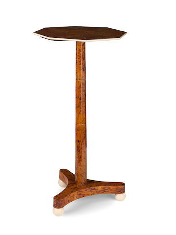 A rare Regency tortoiseshell veneered occasional table
