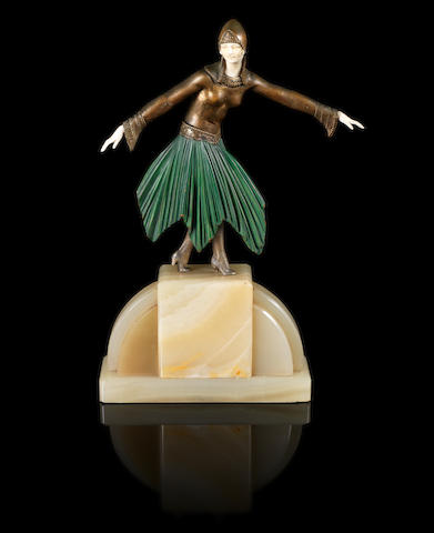 Demetre Chiparus 'Starlight' a Cold-painted Bronze and Carved Ivory Figure, circa 1925