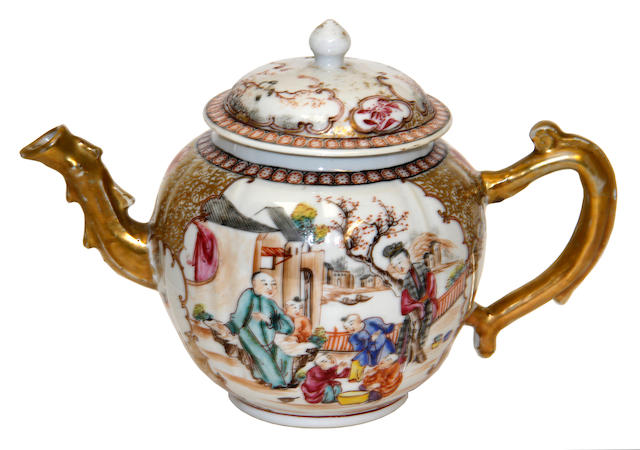 A Chinese export tea service, late 18th century-early 19th century