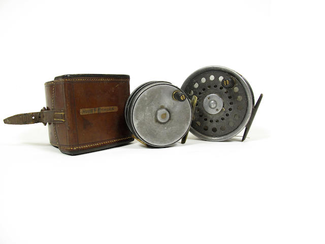 A J.S. Sharpe 3¾in. alloy fly reel