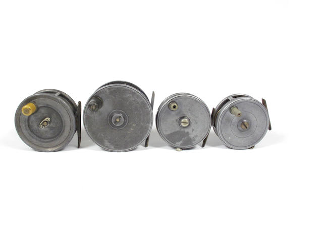 Four various Dingley reels