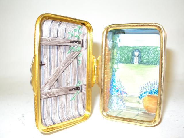 A Moorcroft enamel box, trial 2002