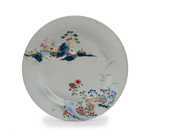 A Chinese famille rose charger Qianlong