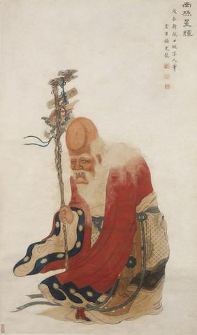 Gu Jianlong (1606-after 1687)  The Star God of Longevity