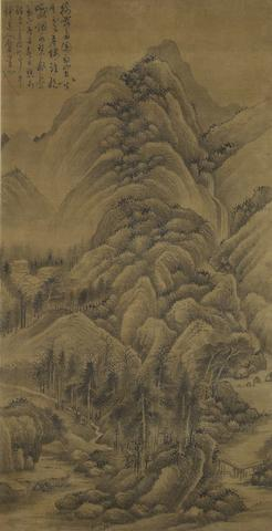 After Wu Zhen (1280-1354) Spring Fall in the Mountain