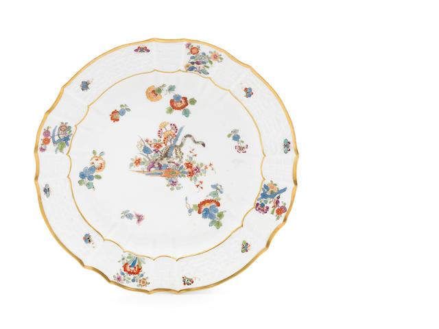 A Meissen plate, tiger