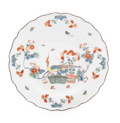 A Meissen plate, circa 1735-40