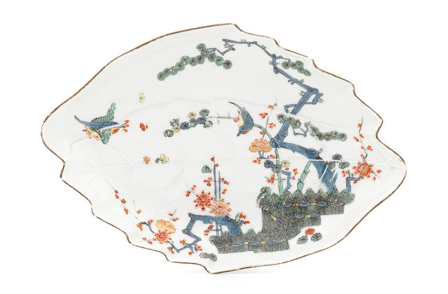 A Meissen leaf-shaped dish, circa 1740