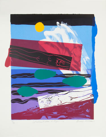Bruce McLean (British, born 1944) Where do you Stand; Lobster Factor 10, Days 1-14 Screenprint in colours, 1988-9, on wove, each signed, dated and numbered in pencil, from the editions of 45 and 75 respectively, with full margins, 1195 x 915mm (47 x 36in)(2)(unframed)