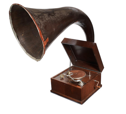 An EMG Expert Senior horn gramophone, early 1930s,