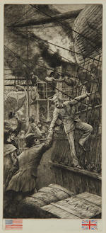 James Jacques Joseph Tissot (French, 1836-1902) Deux Amis (Wentworth 55)  Etching and drypoint, 1882,