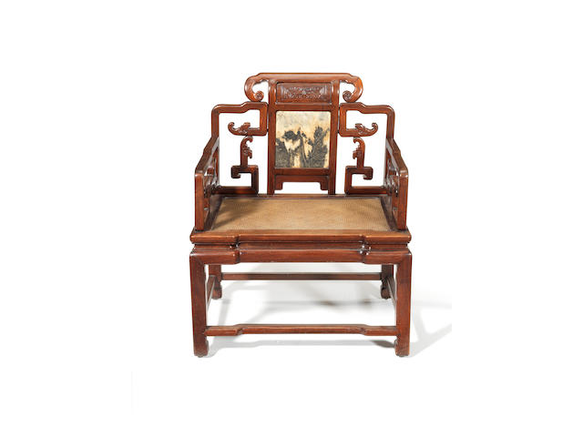 A large high official's armchair 19th or early 20th century