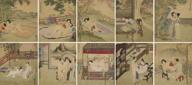 Wang Shi (17th Century) Erotic Paintings