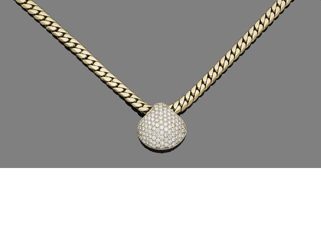 A diamond-set collar necklace