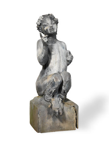 Walter Gilbert, with L Weingartner, Bromsgrove School 'Pan' an Impressive Lead Sculpture, 1928