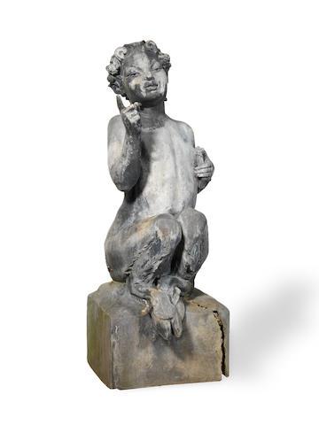 Walter Gilbert, with L Weingartner, Bromsgrove School 'Pan' an Impressive Lead Sculpture, 1928