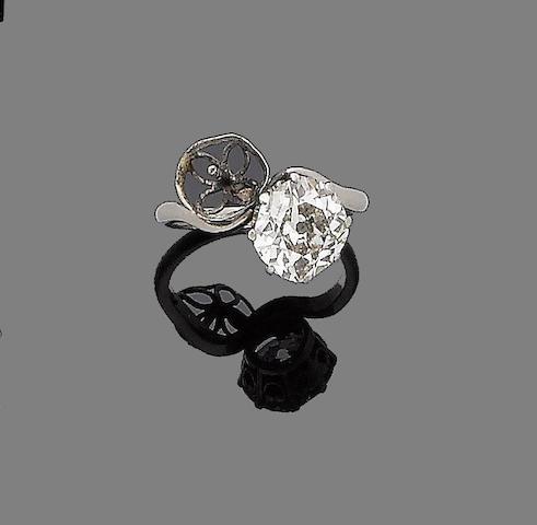 An early 20th century diamond ring